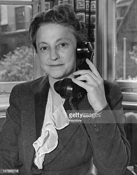 BBC television current affairs producer Grace Wyndham Goldie at the BBC's Lime Grove Studios in London 3rd May 1955 Wyndham Goldie assistant head of...