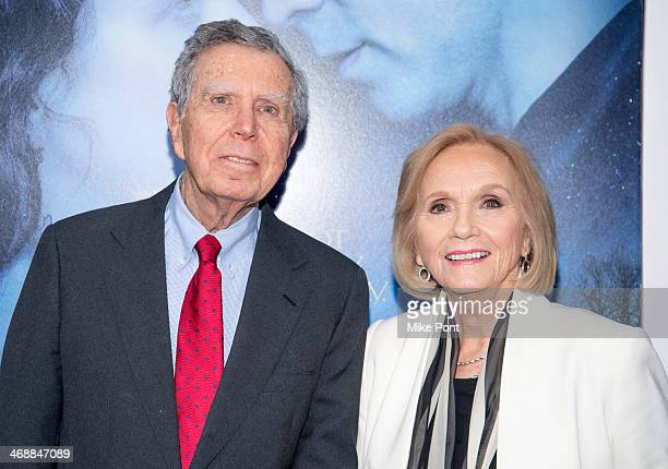 Television Director Jeffrey Hayden and Actress Eva Marie Saint attend the Winter's Tale world premiere at Ziegfeld Theater on February 11 2014 in New...