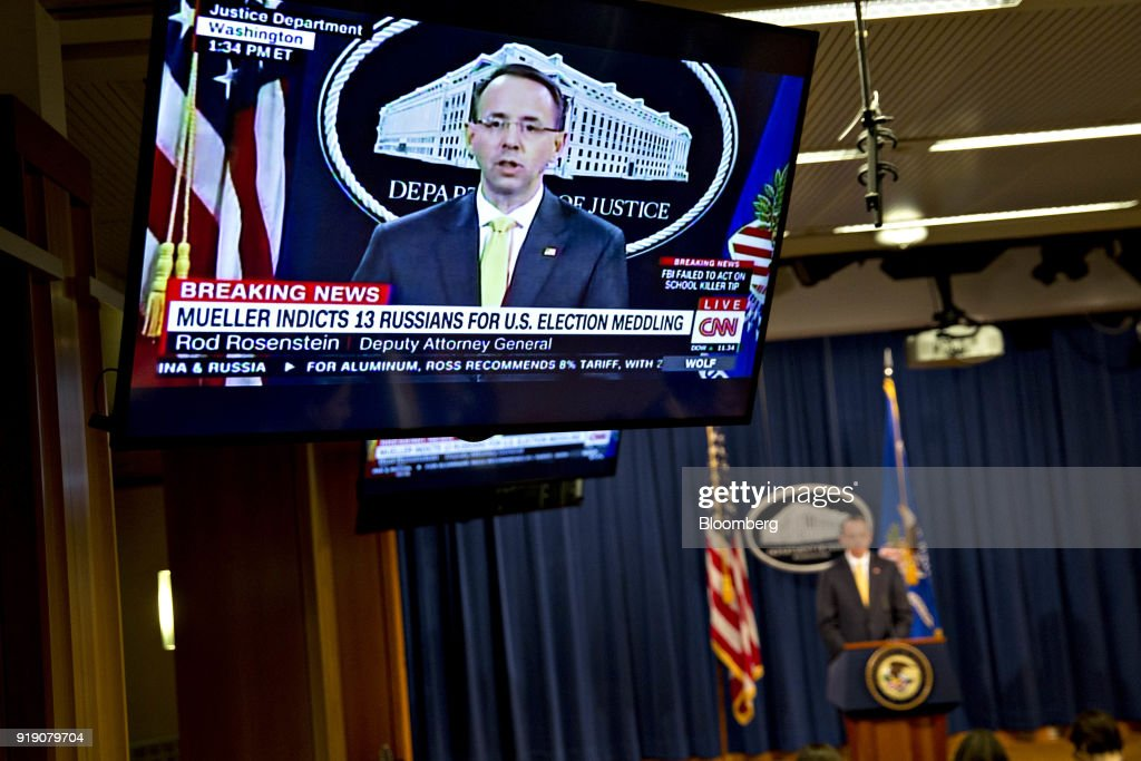 Deputy Attorney General Rod Rosenstein Holds News Conference At The Department Of Justice