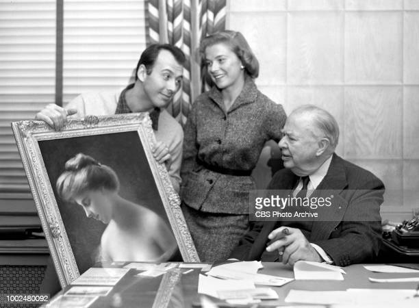 CBS television dramatic anthology program Studio One episode The Cuckoo in Spring Originally broadcast December 27 1954 Left to right Richard Kiley...
