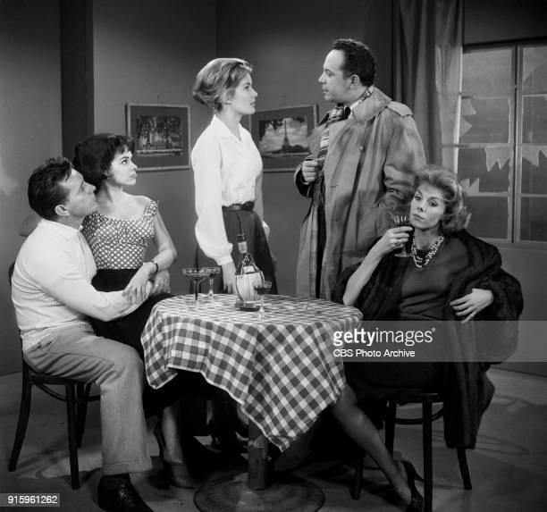 CBS television dramatic anthology series Buick Electra Playhouse features a television adaptation of Ernest Hemingways The Fifth Column Pictured from...