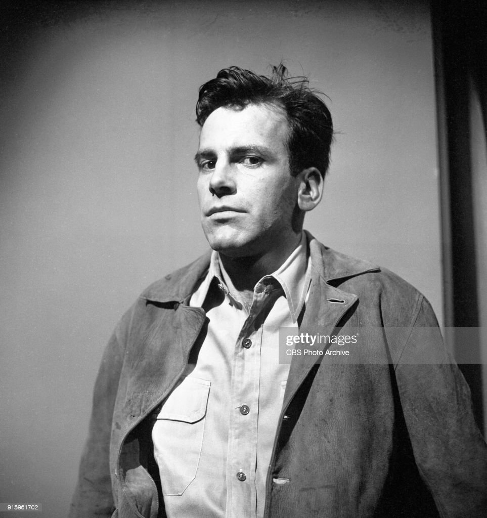 CBS television dramatic anthology series, Buick Electra Playhouse features a television adaptation of Ernest Hemingways The Fifth Column. Pictured is Maximilian Schell (as Max). Image dated January 11, 1960. New York, NY. Originally broadcast January 29, 1960.