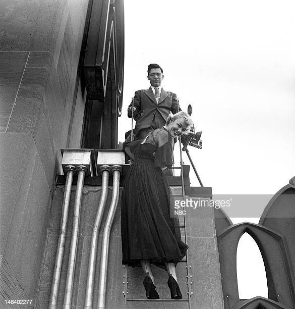 Transmitters Pictured Actress Kyle MacDonnell in 1949 on the rooftop of the RCA Building in New York NY
