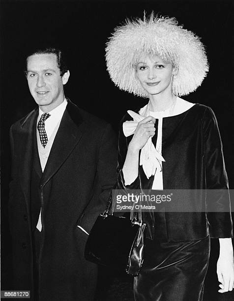 Television executive and socialite Brinsley Black and his wife attend the wedding reception of Edwina Sandys and Pierson John Shirley Dixon December...