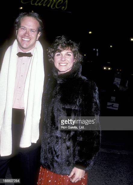 Television executive Dick Ebersol and actress Susan Saint James on December 7 1983 dine at Elaine's Restaurant in New York City