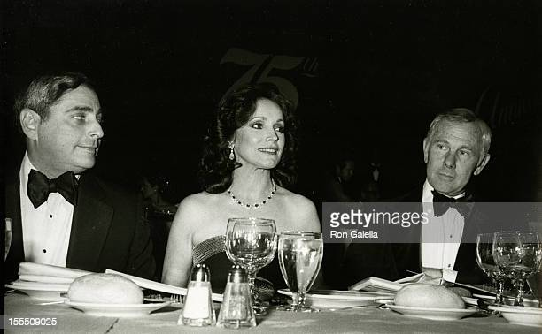 Television Executive Fred Silverman actor Johnny Carson and wife Joanna Carson attend Friar's Club Entertainer of the Year Salute to Johnny Carson on...
