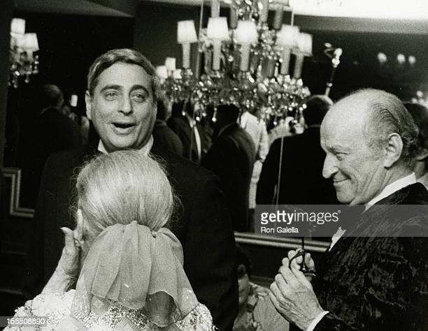 Television Executive Fred Silverman and guest attend Friar's Club Entertainer of the Year Salute to Johnny Carson on May 6 1979 at the Waldorf...