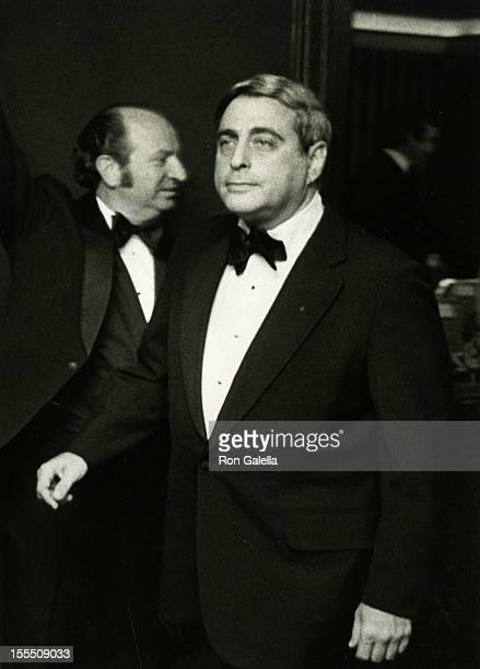 Television Executive Fred Silverman attends Friar's Club Entertainer of the Year Salute to Johnny Carson on May 6 1979 at the Waldorf Astoria Hotel...
