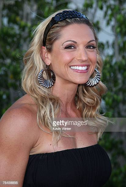 Television fitness trainer Kim Lyons arrives to the NBC AllStar Party held during the 2007 Summer Television Critics Association Press Tour at the...