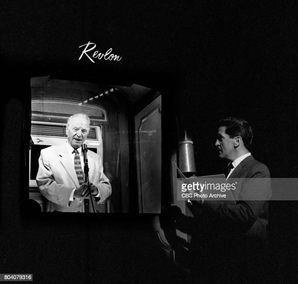 CBS television game show The $64000 Question Pictured is Host Hal March with contestent 84 year old Henry F Ashurst who is a retired Arizona Senator...