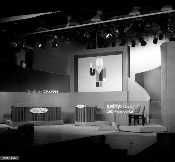 CBS television game show To Tell The Truth Photographs of the set CBS Studio 52 at 254 West 54th Street New York NY June 16 1960