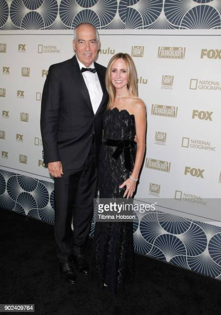 Television Group Chairman CEO Gary Newman and FOX Television Group Chairman CEO Dana Walden attend FOX FX and Hulu 2018 Golden Globe Awards After...