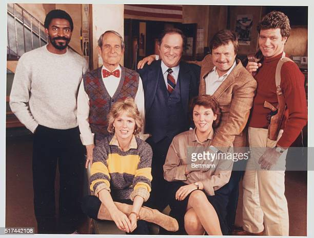 Television handout of the cast members of the CBSTV series Cagney Lacey They are Carl Lumbly Sidney Clute Al Waxman John Karlen Martin Kove Sharon...