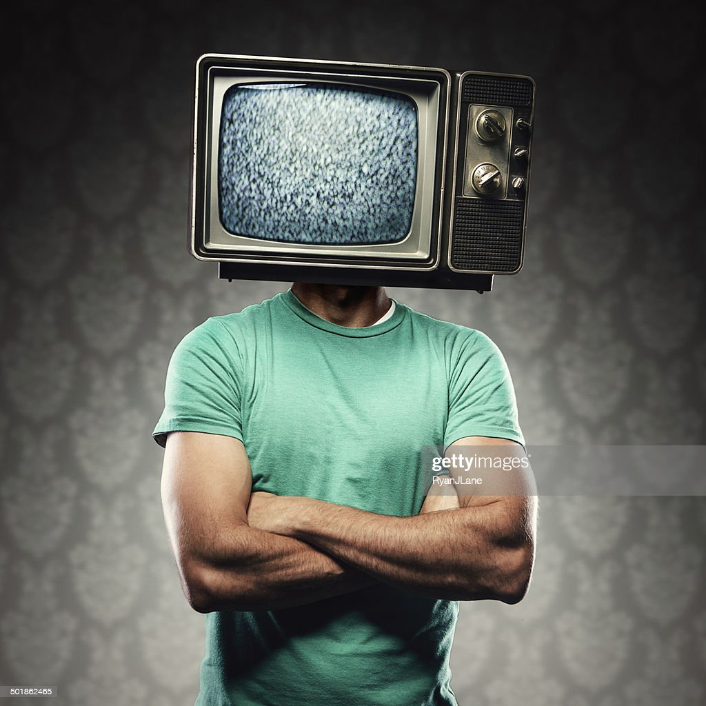 Television Head Man : Stock Photo