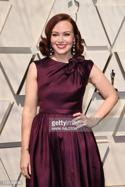 Television host Alicia Malone arrives for the 91st Annual Academy Awards at the Dolby Theatre in Hollywood California on February 24 2019