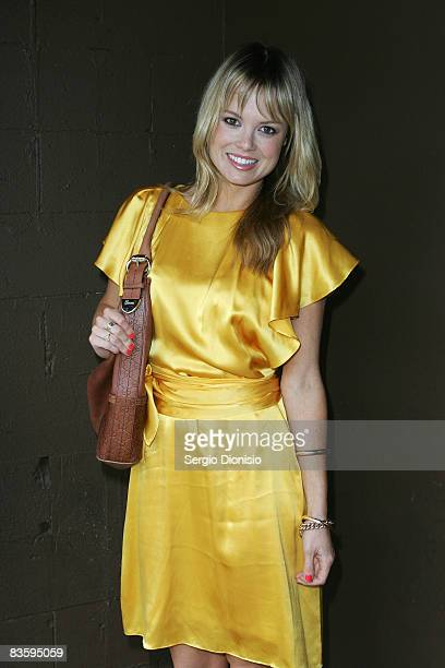 Television host Amy Erbacher attends the Cosmopolitan cocktail party in The Victoria Room on November 7 2008 in Sydney Australia