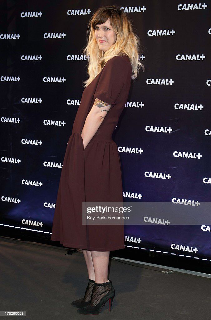 Television host and actor Daphne Burki at the 'Rentree De Canal +' photocall at Porte De Versailles on August 28, 2013 in Paris, France.