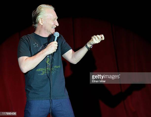 Television host and comedian Bill Maher performs at The Orleans Hotel Casino July 2 2011 in Las Vegas Nevada