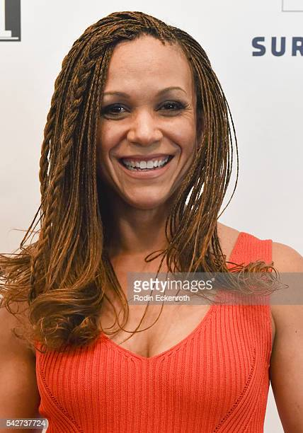 Television host and political commentator Melissa HarrisPerry attends Russell Simmons' All Def Digital hosts Town Hall at The Montalban Theater on...