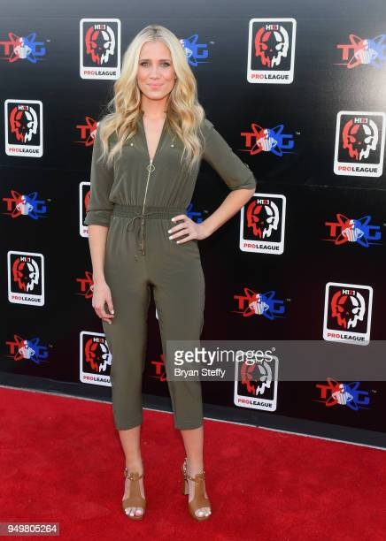 Television host and sports reporter Kristine Leahy attends opening weekend of the Twin Galaxies H1Z1 Pro League At Caesars Entertainment Studios on...