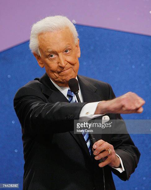 Television host Bob Barker during his last taping of 'The Price is Right' show held at the CBS television city studios on June 6 2007 in Los Angeles...