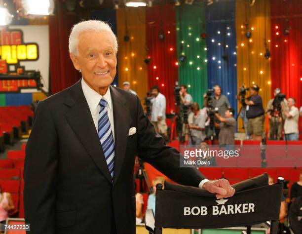 Television host Bob Barker poses for photographers at his last taping of The Price is Right show at the CBS Television City Studios on June 6 2007 in...