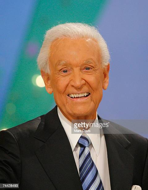 Television host Bob Barker smiles during his last taping of The Price is Right show held at the CBS television city studios on June 6 2007 in Los...