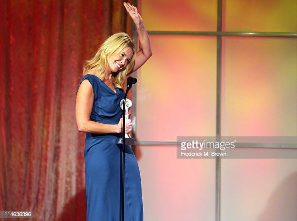 Television host Chelsea Handler speaks during the 36th Annual Gracie Awards Gala at the Beverly Hilton Hotel on May 24 2011 in Beverly Hills...