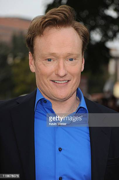 Television host Conan O'Brien arrives at the premiere of Paramount Pictures' Super 8 at Regency Village Theatre on June 8 2011 in Westwood California