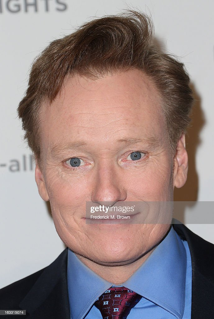 Television host Conan O'Brien attends The Alliance For Children's Rights' 21st Annual Dinner at The Beverly Hilton Hotel on March 7, 2013 in Beverly Hills, California.