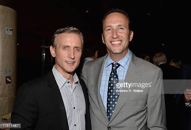 Television host Dan Abrams and AMC President and General Manager Charlie Collier attend the 'Breaking Bad' NY Premiere 2013 after party at Lincoln...