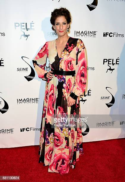 television Host Daniela Ganoza arrives at the Premiere of IFC Films' 'Pele Birth Of A Legend' at Regal Cinemas LA Live on May 12 2016 in Los Angeles...