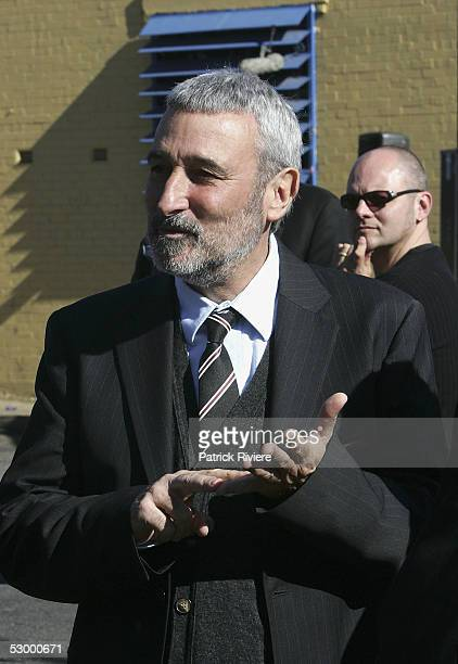 Television host Don Burke attends the funeral service of TV personality Graham Kennedy at the Playhouse on May 31, 2005 in Mittagong, New South...