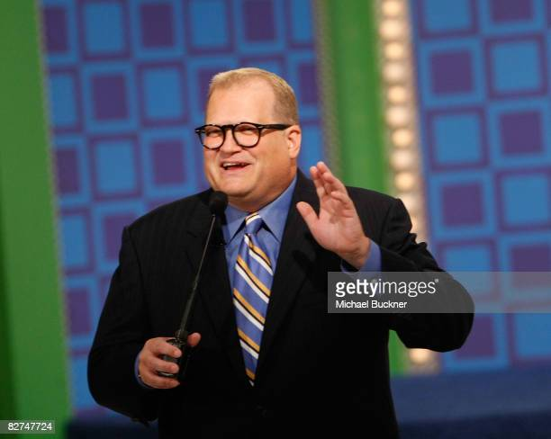 Television host Drew Carey tapes a special hockeythemed edition of The Price Is Right at CBS Television Studios September 9 2008 in Los Angeles...