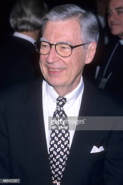 Television host Fred Rogers attends the 52nd Annual Christopher Awards on February 22 2001 at the TimeLife Building in New York City
