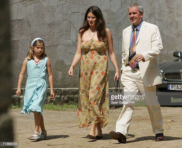 Television host Fritz Egner and his family attend the wedding of German TV host Guenther Jauch at the Belvedee Palace on July 7 2006 in Potsdam...