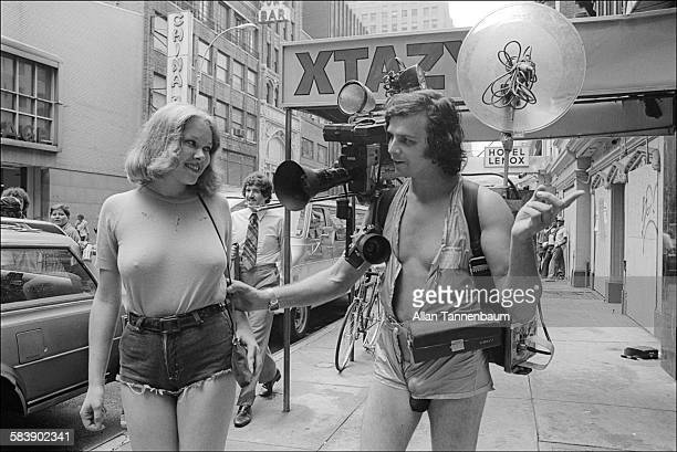 Television host George Urban better known as Ugly George tries to convince a woman to undress for his cable tv show 'The Ugly George Hour of Truth...