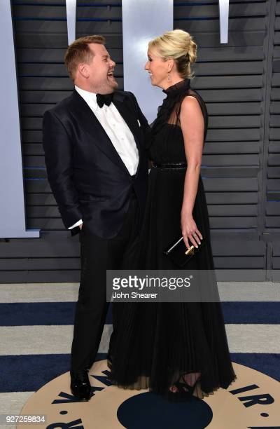 Television host James Corden and Julia Carey attend the 2018 Vanity Fair Oscar Party hosted by Radhika Jones at Wallis Annenberg Center for the...