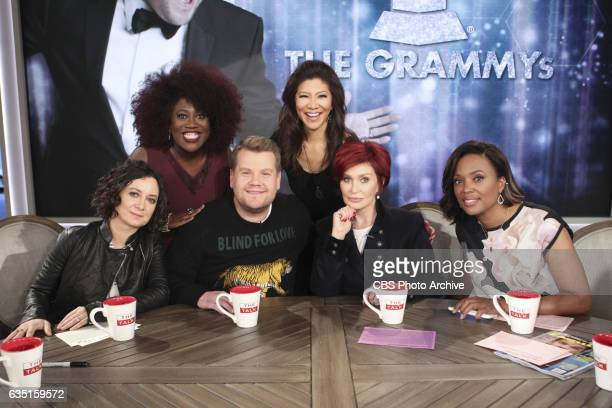 Television host James Corden discusses hosting THE 59TH ANNUAL GRAMMY AWARDS for the first time on The Talk Thursday February 9 2017 on the CBS...