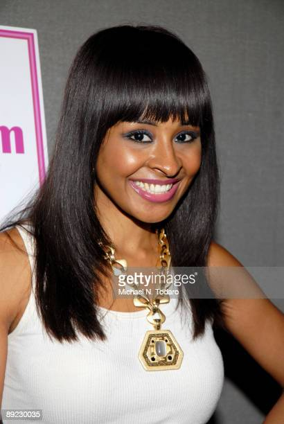 Television host Janell Snowden attends the SheBlogscom launch party at Saks Fifth Avenue July 23 2009 in New York City