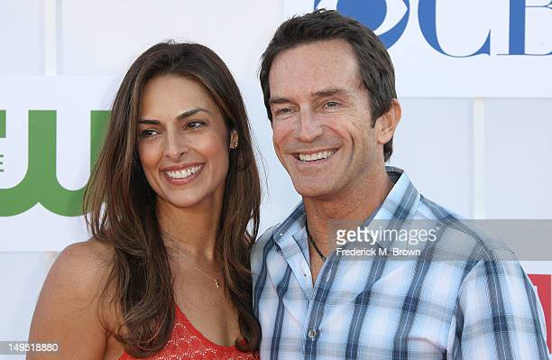 Television host Jeff Probst and his wife Lisa Ann Russell attend CW CBS And Showtime 2012 Summer TCA Party at The Beverly Hilton Hotel on July 29...