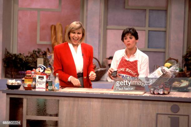 Television host Jenny Jones during a home cooking segment on her talk show Chicago Illinois September 11 1991