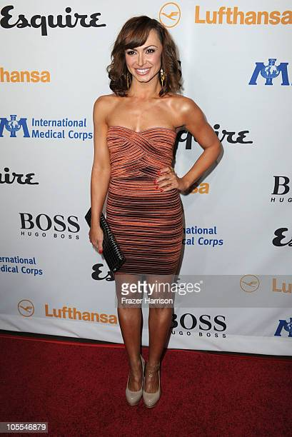 Television Host Karina Smirnoff arrives at the Esquire Celebrates The Grand Opening of the Esquire House LA With International Medical Corps Benefit...