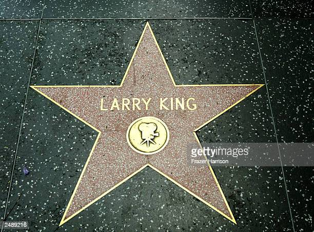 Television Host Lrry King's star is seen on the Hollywood walk of fame September 12, 2003 in Hollywood.