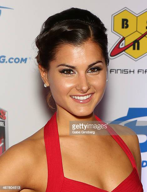 Television host Megan Olivi arrives at the sixth annual Fighters Only World Mixed Martial Arts Awards at The Palazzo Las Vegas on February 7 2014 in...