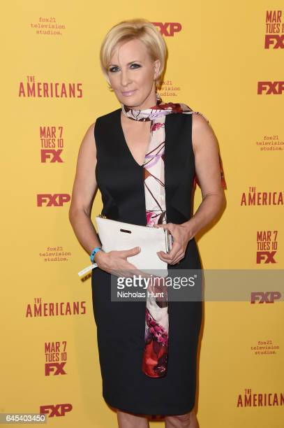 Television host Mika Brzezinski attends 'The Americans' season 5 premiere at DGA Theater on February 25 2017 in New York City