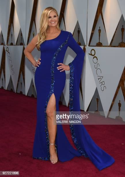US television host Nancy O'Dell arrives for the 90th Annual Academy Awards on March 4 in Hollywood California / AFP PHOTO / VALERIE MACON