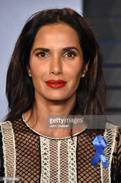 Television host Padma Lakshmi attends the 2018 Vanity Fair Oscar Party hosted by Radhika Jones at Wallis Annenberg Center for the Performing Arts on...