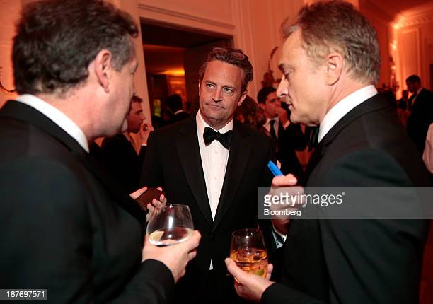 Television host Piers Morgan from left actor Matthew Perry and Bradley Whitford attend the Bloomberg Vanity Fair White House Correspondents'...