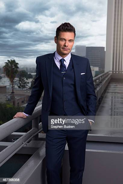 Television host producer and radio personality Ryan Seacrest is photographed for Haute Living Magazine on December 3 2014 in Los Angeles California